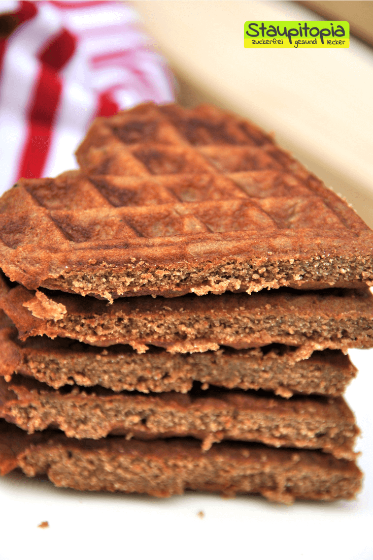 Low Carb Brownie Waffeln