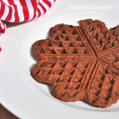 Low Carb Brownie Waffeln in 10 Sekunden