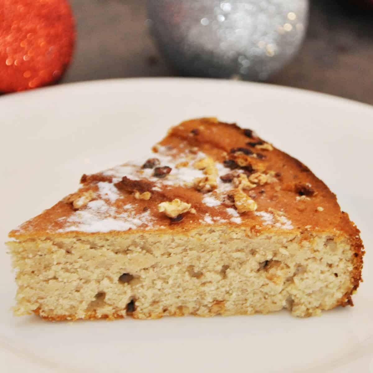Low Carb Glühweinkuchen ohne Zucker und ohne Mehl für Weihnachten selber machen. Das ist ein Kuchen mit Eryhrit und Xucker Light.