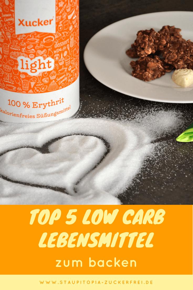 Low Carb Lebensmittel zum low carb backen ohne zucker und ohne Kohlenhydrate