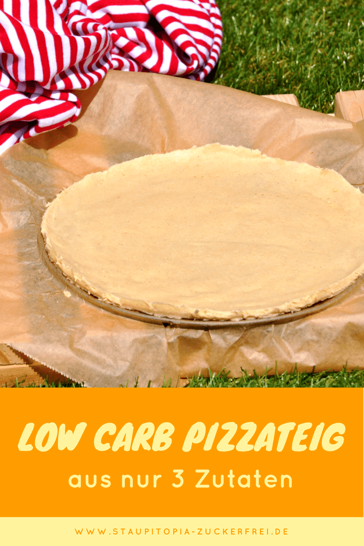 Ein einfacher, schneller und gesunder Low Carb Pizzaboden ohne Kohlenhydrate und mit nur 3 Zutaten.