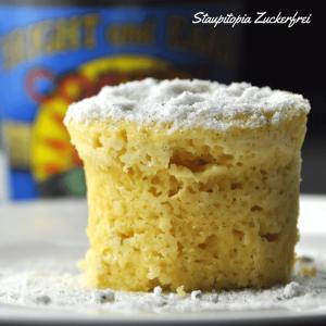 Low Carb Tassenkuchen vanille ohne Zucker und ohne Mehl ganz einfach, schnell und ohne Kohlenhydrate in der Mikrowelle zubereiten.