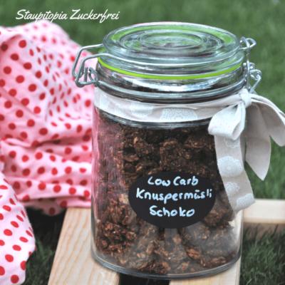 Mit diesem schokoladigen Low Carb Knuspermüsli bringst du Abwechslung in dein Frühstück!