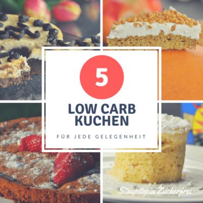 5 leckere Low Carb Kuchen die immer gehen!