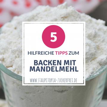 Tipps zum Backen mit Mandelmehl: Ist Mandelmehl das Gleiche wie gemahlene Mandeln? Ist da wo Mandelmehl drauf steht auch immer Mandelmehl drin? Kann man Weizenmehl durch Mandelmehl ersetzen? Lässt sich Low Carb Gebäck mit Mandelmehl einfrieren? Kann man Mandelmehl durch andere Nuss-Mehle ersetzen?