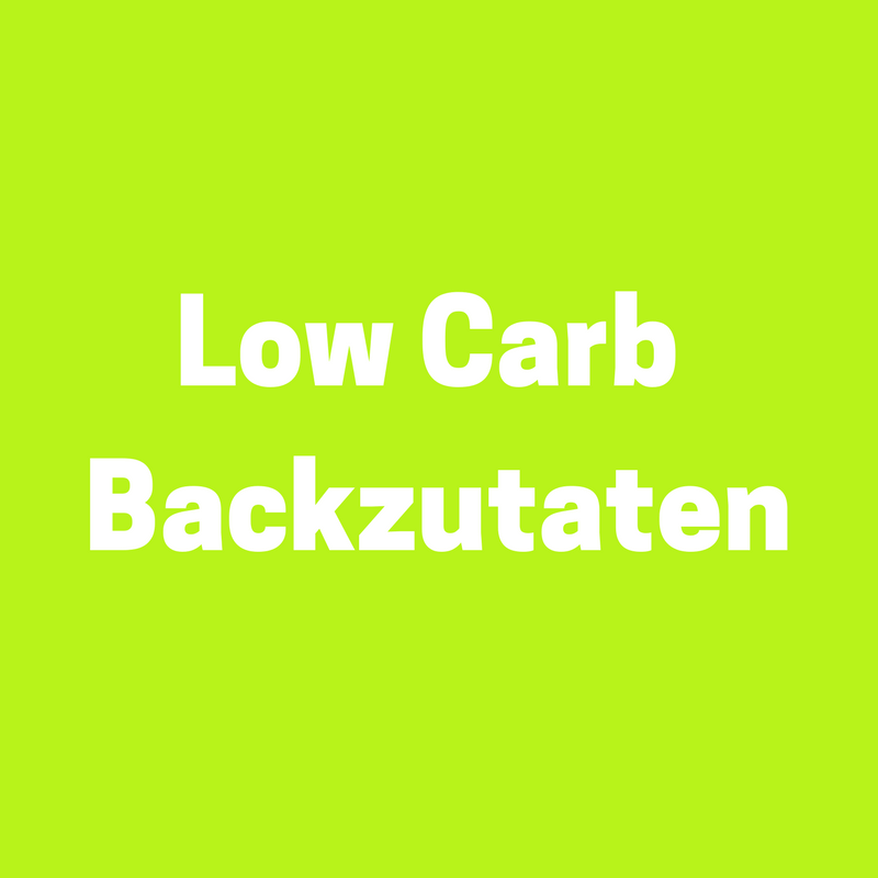 Low Carb Einkaufstipps: Low Carb Backzutaten