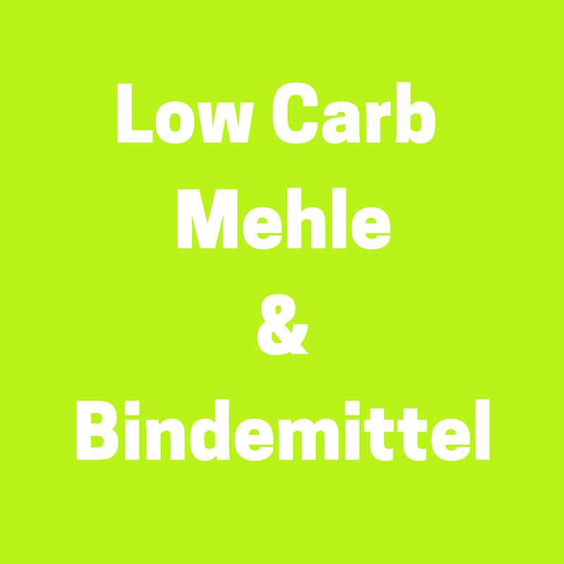 Low Carb Einkaufstipps: Low Carb Mehle und Bindemittel
