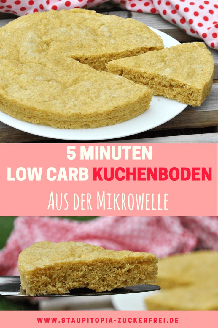 Einen Low Carb Kuchenboden in 5 Minuten backen? Das geht! Und zwar mit diesem Rezept. Dieser Low Carb Kuchenboden ist nicht nur einfach zuzubereiten, sondern glutenfrei, Low Carb und richtig fluffig. Für die Zubereitung benötigst du nur 6 Zutaten: Kokosmehl, Goldleinsamen, Erythrit, Eier, Butter und Backpulver. Probier das Rezept am besten direkt aus!