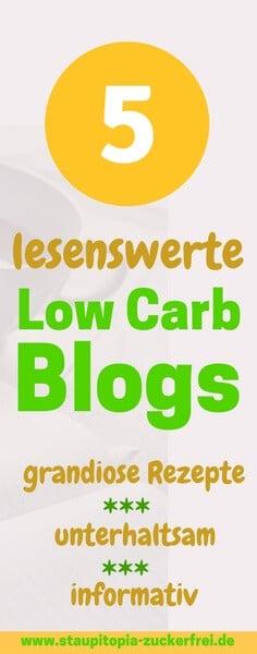 Ich liebe es immer wieder durch die verschiedenen Rezepte und Artikel von fantastischen Low Carb Blogs zu stöbern! Heute stelle ich dir 5 meiner liebsten Low Carb Blogs vor! Die Übersicht findest du auf www.staupitopia-zuckerfrei.de #lowcarb #lowcarbblogs #blogs #wissenswert #foodblogger #staupitopia