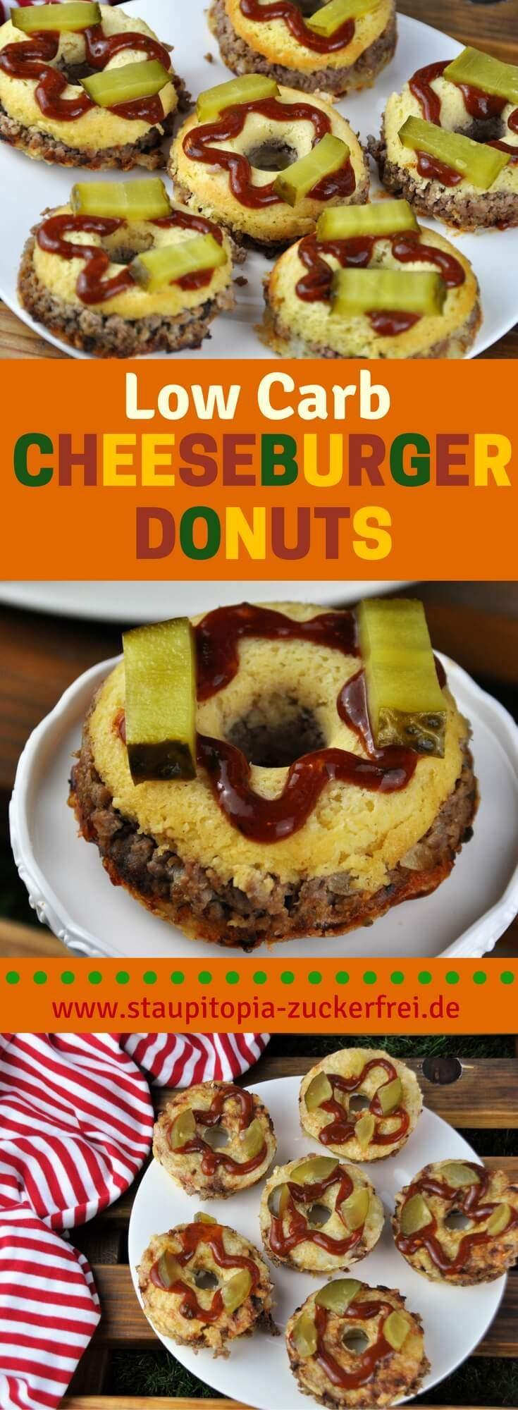 Schon mal etwas von Low Carb Cheeseburger Donuts gehört? Ich auch nicht! Dieses Rezept für die leckeren Low Carb Cheeseburger Donuts ist zufällig beim experimentieren in der Küche entstanden und jetzt aus meiner Sammlung von Lieblingsrezepten nicht mehr wegzudenken.