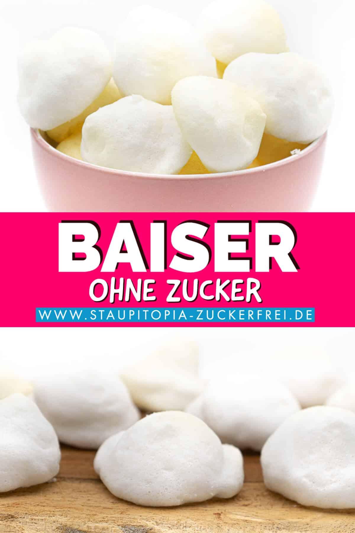 Baiser ohne Zucker aus Eischnee und Erythrit selber machen.