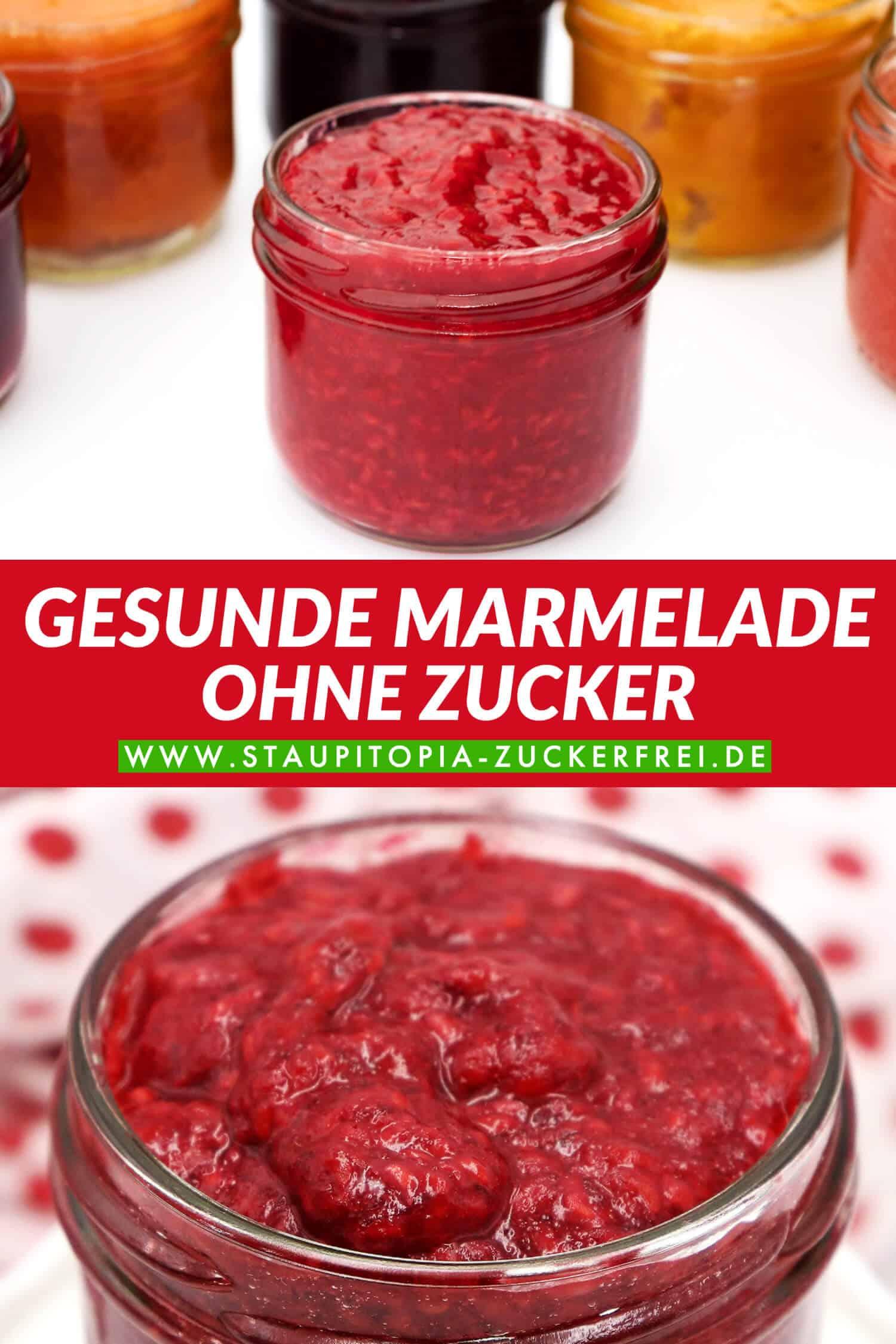 Gesunde Marmelade ohne Zucker | zuckerfrei Backen und Naschen