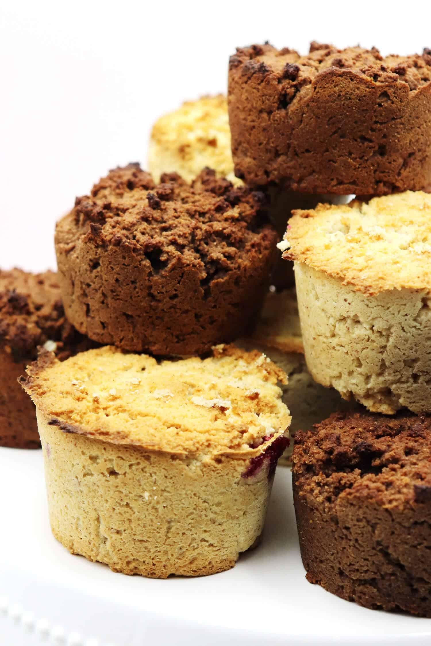 Mandelmuffins ohne Zucker Rezept | Low Carb Backen und Naschen