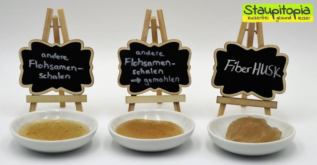 So unterschiedlich quellen Flohsamenschalen! Flohsamen und FiberHUSK im Vergleich. Tipps und Tricks zum Low Carb Backen.
