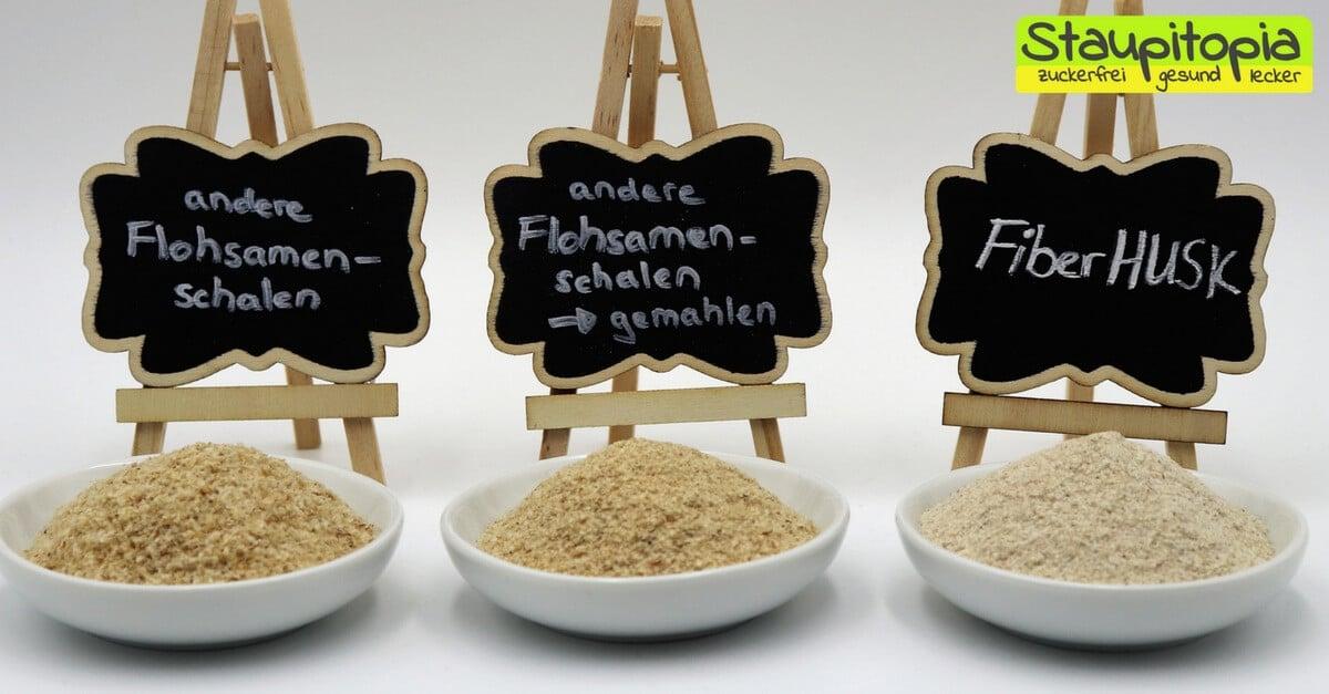 Wie unterscheiden sich Flohsamenschalen? Flohsamen und FiberHUSK im Vergleich. Low Carb Tipps und Tricks zum Backen.