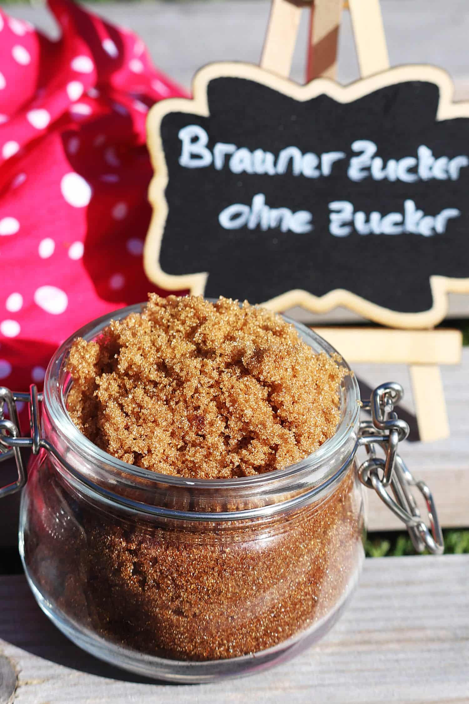Braunen Zucker mit Erythrit selber machen