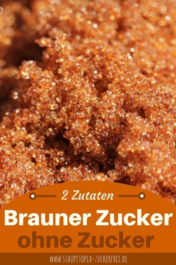 Rezept für braunen Zucker ohne Zucker