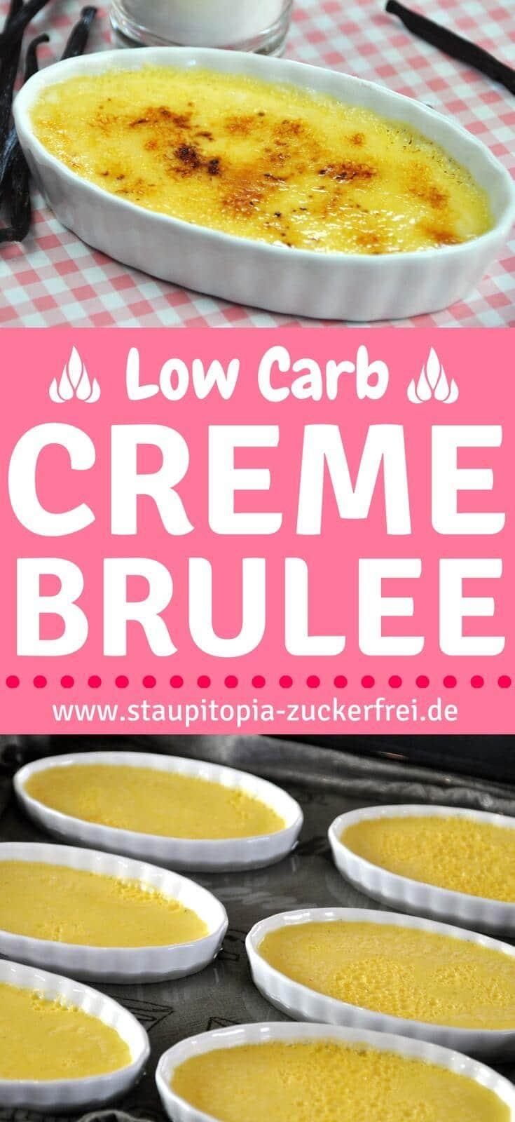 Diese Low Carb Creme Brulée schmeckt wie das Original, nur kannst du bei diesem Rezept ohne Zucker aus.