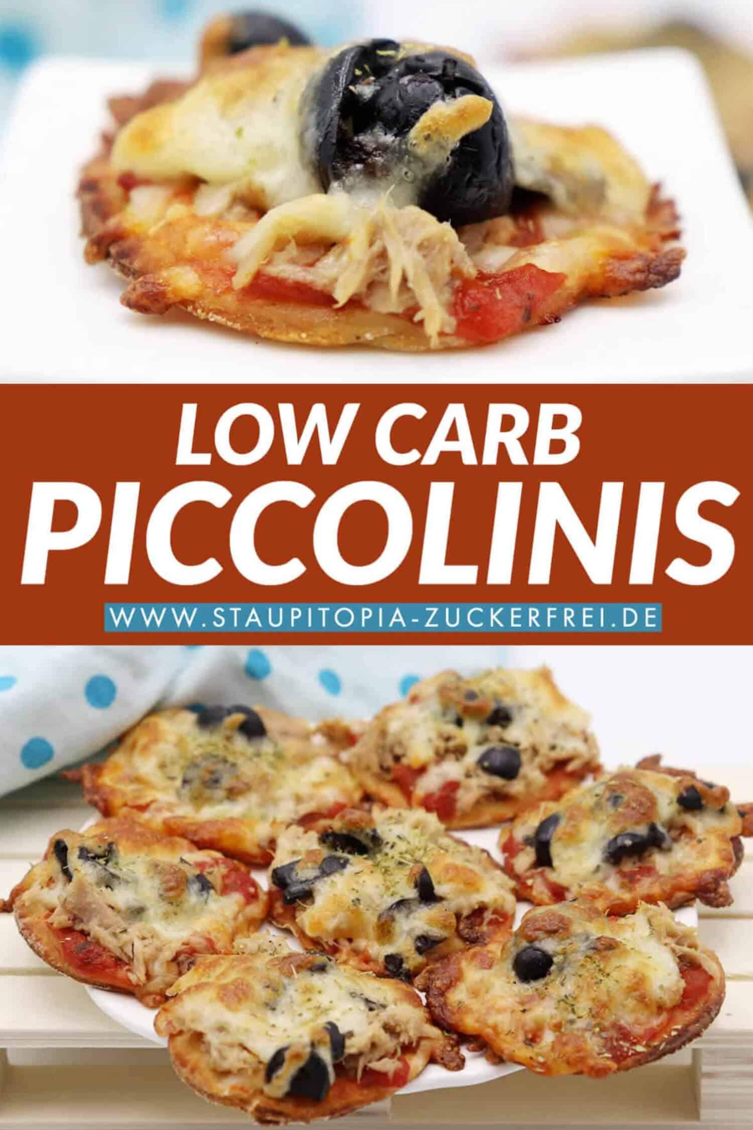 Low Carb Piccolinis mit Thunfisch und Oliven aus einem Quark-Öl-Teig ohne Kohlenhydrate backen