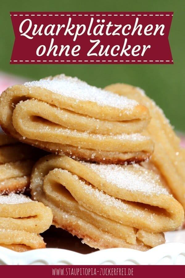 Rezept für Quark-Plätzchen ohne Zucker mit Erythrit und Kokosöl.