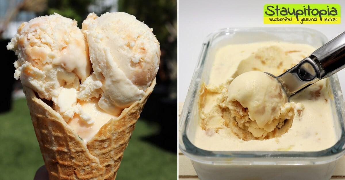Low Carb Karamell Eis