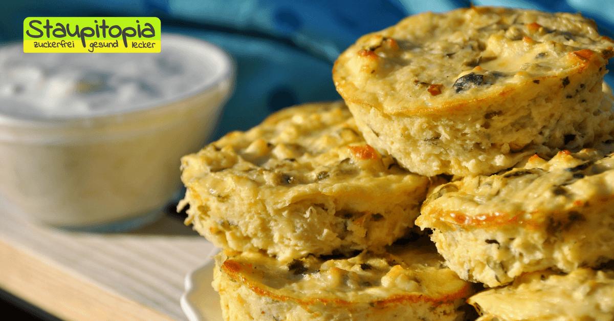 Low Carb Zucchini-Feta-Muffins
