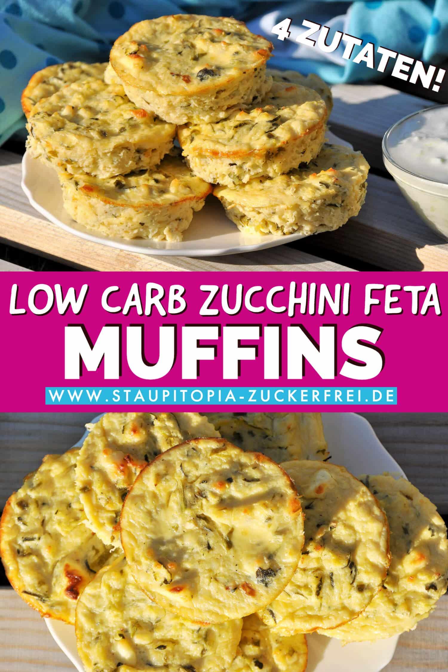 Low Carb Zucchini Feta Muffins Aus Nur 4 Zutaten Staupitopia