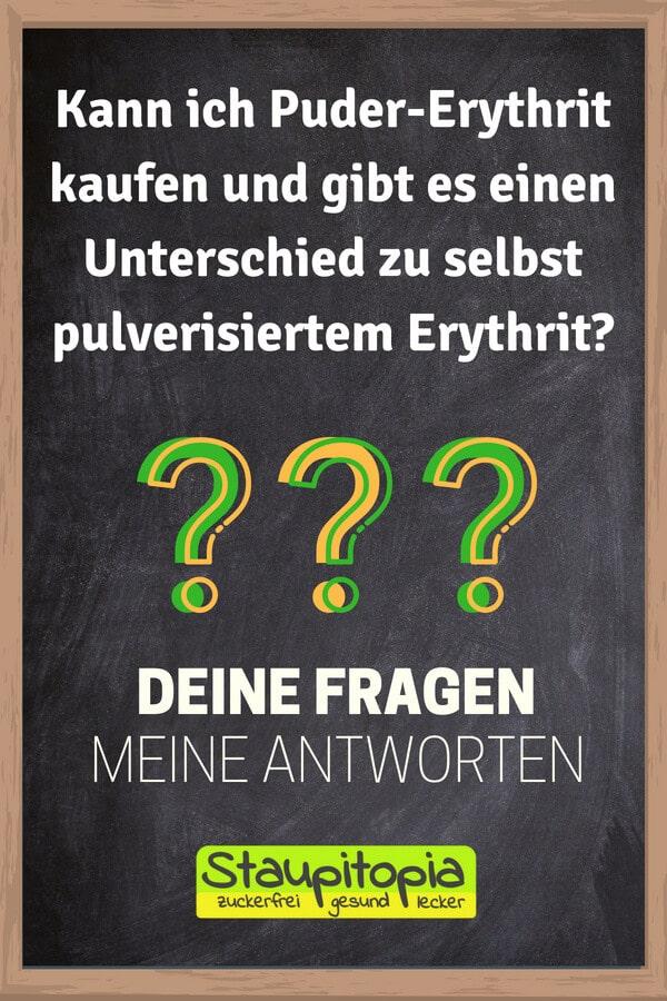 Kann ich Puder-Erythrit kaufen und gibt es einen Unterschied zu selbst pulverisiertem Erythrit?