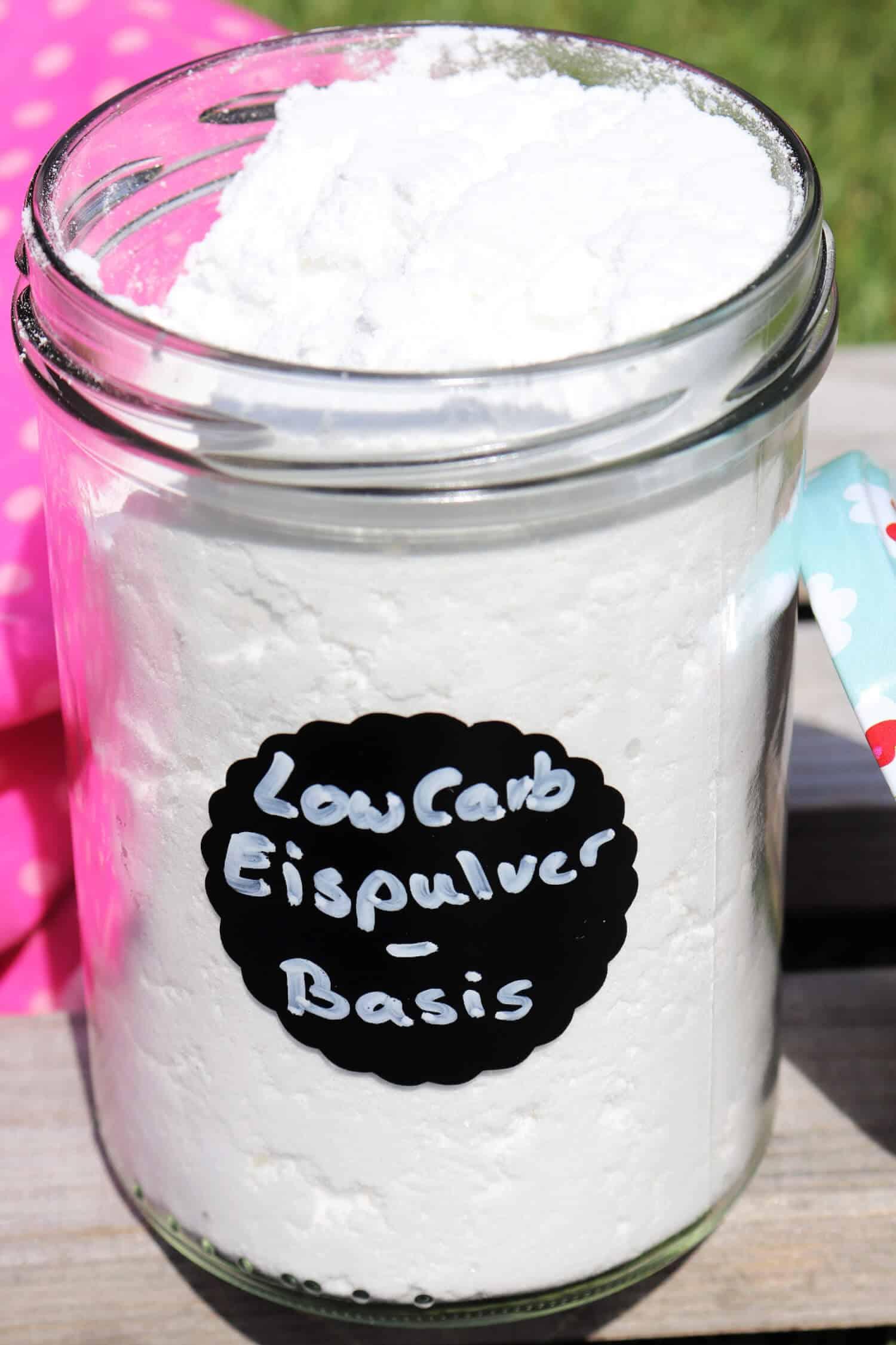 Eispulver ohne Zucker für Milcheis einfach selber machen