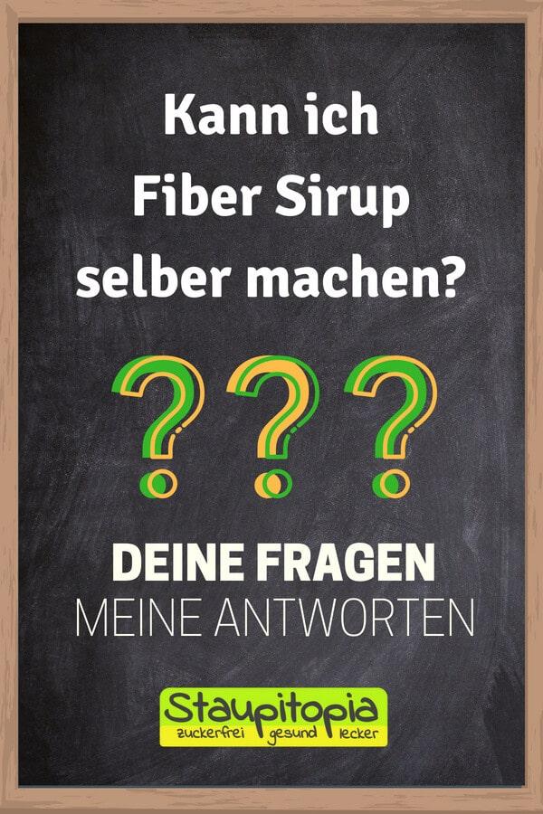 Fragen und Antworten zum Low Carb Backen: Kann ich Fiber Sirup selber machen?