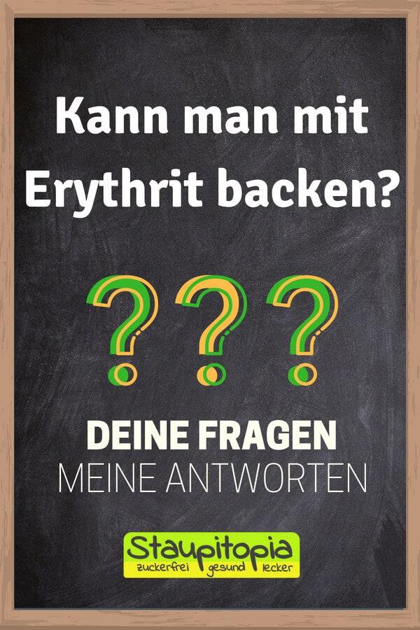 Fragen und Antworten zum Thema Backen mit Erythrit: Kann man mit Erythrit backen?