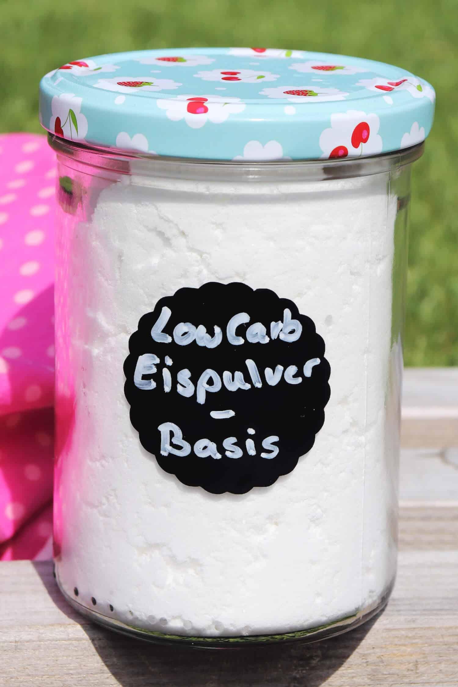 Low Carb Eispulver Rezept mit und ohne Eismaschine