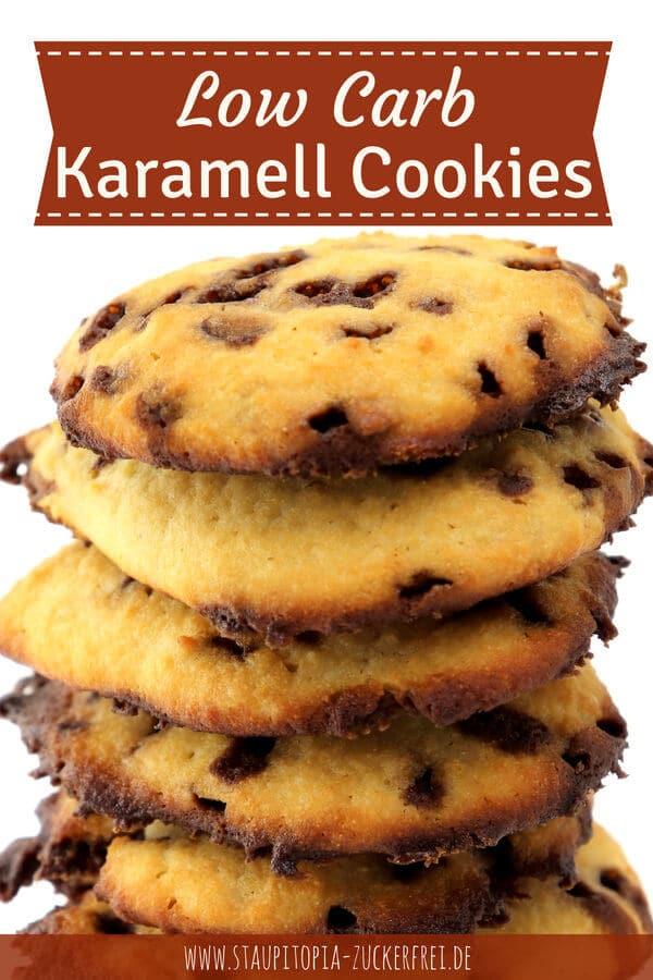 Low Carb Karamell Cookies backen