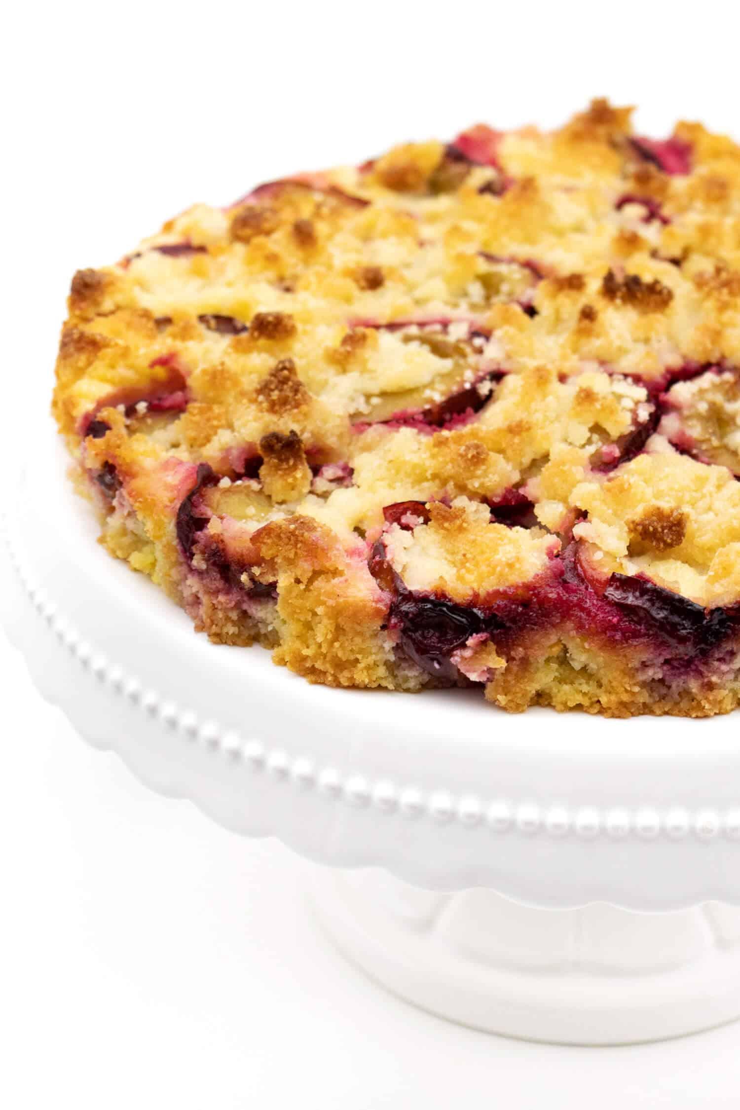 Low Carb Pflaumenkuchen mit Streusel ohne Mehl und Zucker.