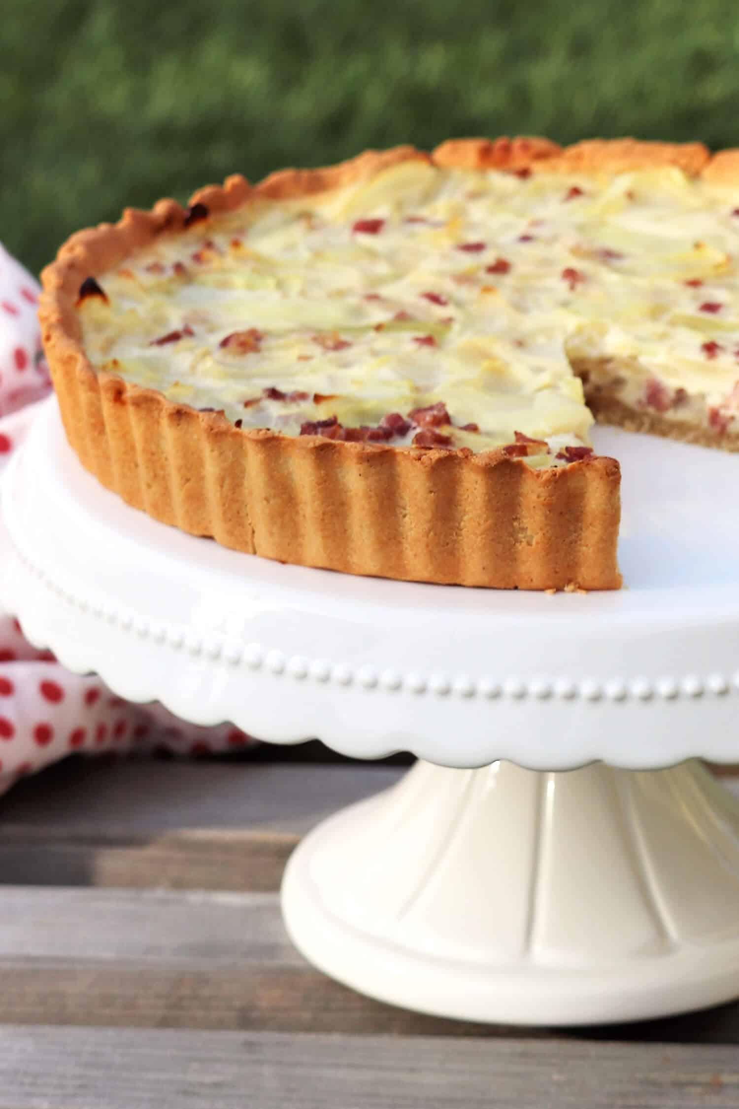 Low Carb Zwiebelkuchen schnell und einfach backen