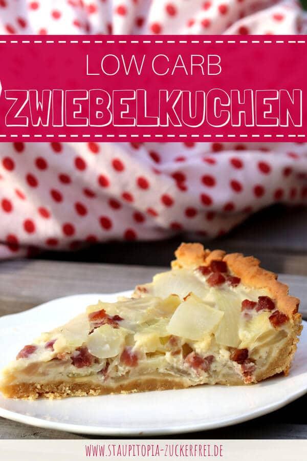 Low Carb Zwiebelkuchen mit Mandelmehl selber machen.