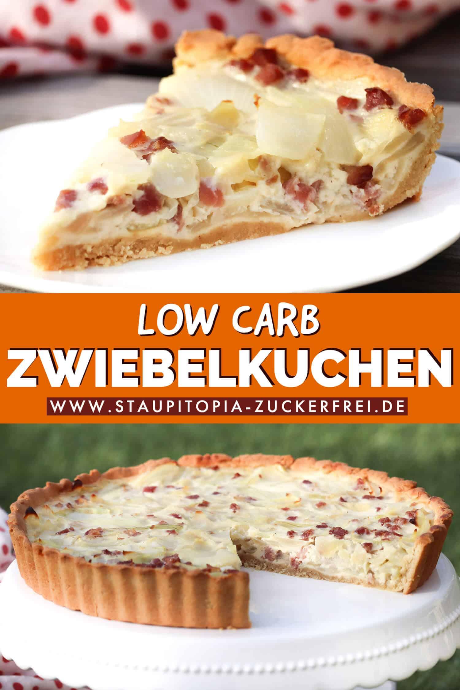 Low Carb Zwiebelkuchen ohne Kohlenhydrate Rezept