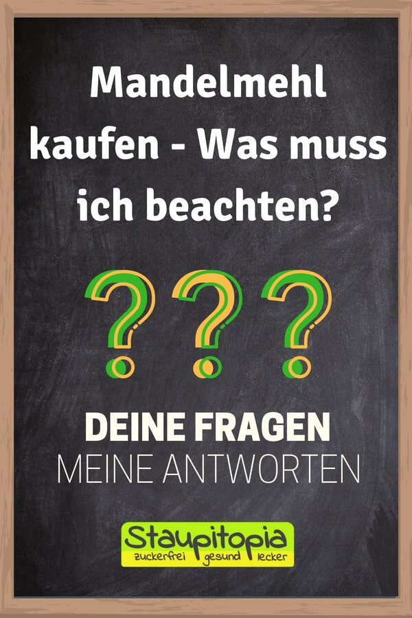 Fragen und Antworten zum Thema Backen mit Mandelmehl: Mandelmehl kaufen - Was muss ich beachten?