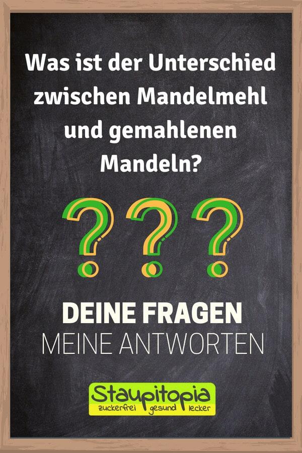 Fragen und Antworten zum Thema Backen mit Mandelmehl: Was ist der Unterschied zwischen Mandelmehl und gemahlenen Mandeln?