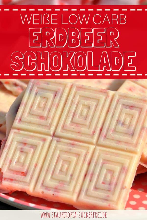 Weisse Low Carb Schokolade ohne Zucker selbst machen.