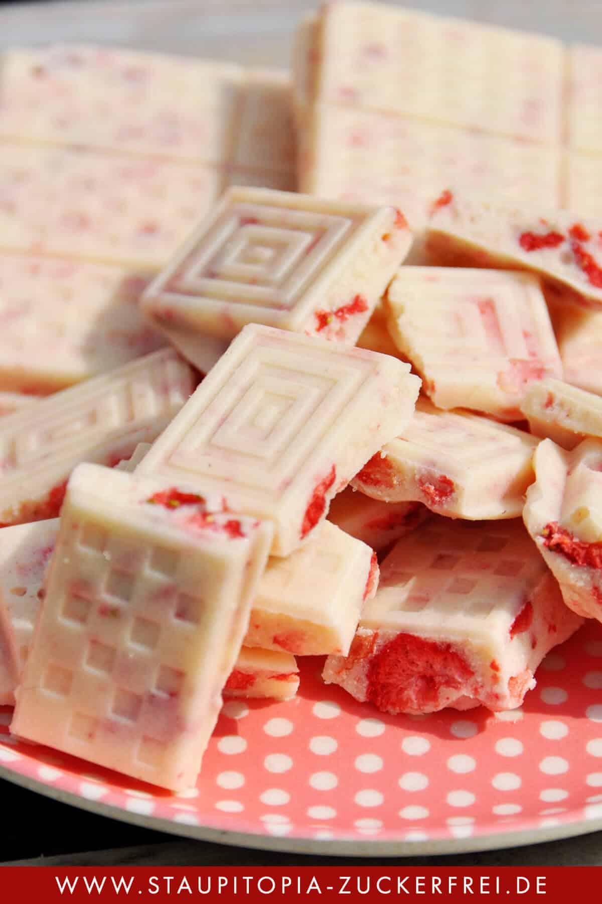 Weisse Schokolade ohne Zucker schnell und einfach selber machen