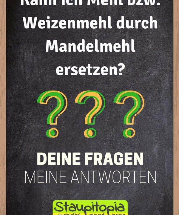 Fragen und Antworten zum Thema Backen mit Mandelmehl: Kann ich Mehl bzw. Weizenmehl durch gemahlene Mandeln ersetzen?