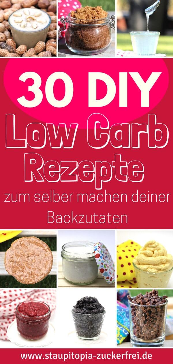 Erfahre in dieser Liste der ultimativen DIY Low Carb Rezepte, wie einfach und schnell du Low Carb Zutaten zum Backen selber machen kannst.