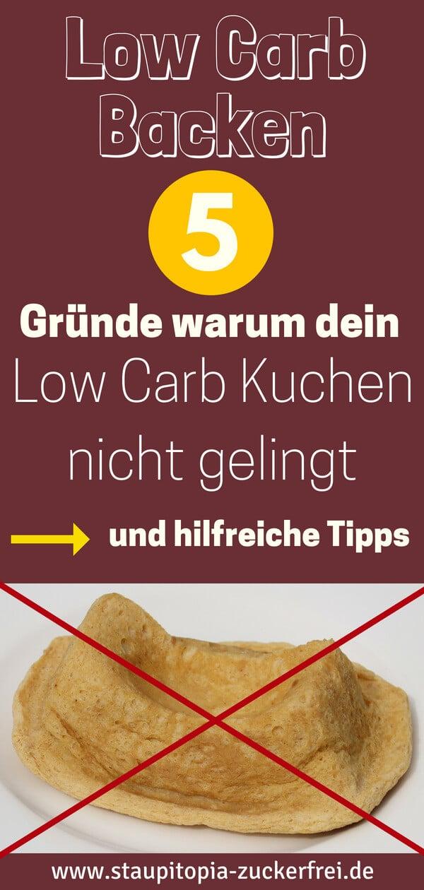 Tipps zum Backen von Low Carb Kuchen