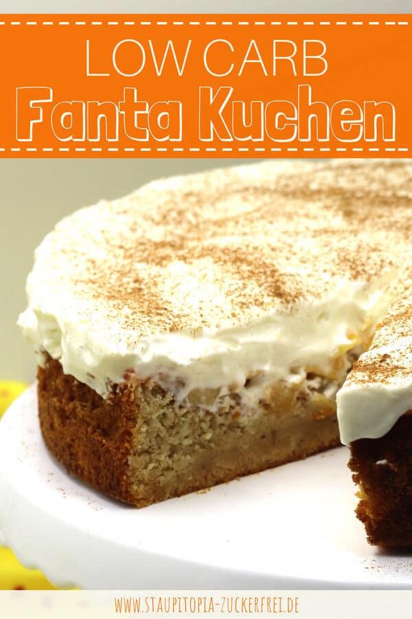 Rezept für eine Low Carb Fanta Torte ohne Zucker.