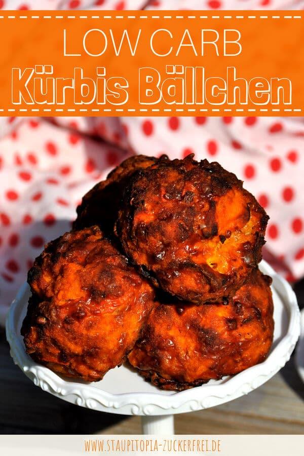 Rezept für Low Carb Kürbis Bällchen als Snack oder für Unterwegs.