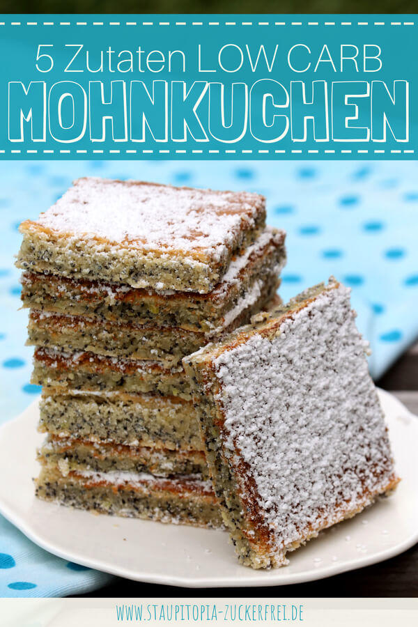 Low Carb Mohnkuchen auf dem Blech backen: einfach, schnell und saftig