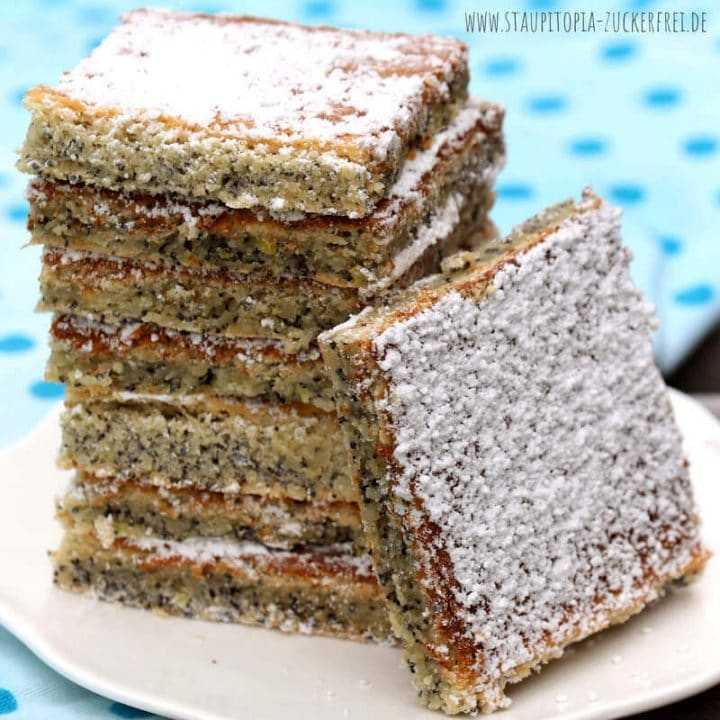Low Carb Mohnkuchen ohne Mehl backen: einfach, schnell und saftig