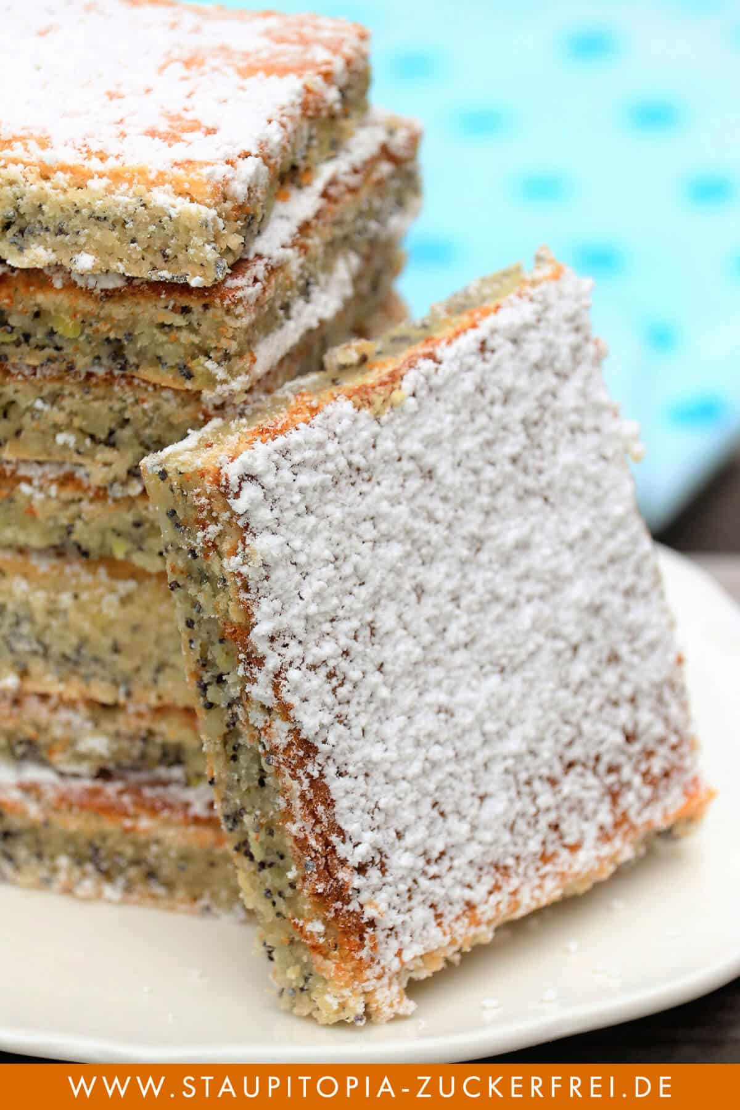 Low Carb Mohnkuchen ohne Mehl Rezept: einfach, schnell und saftig