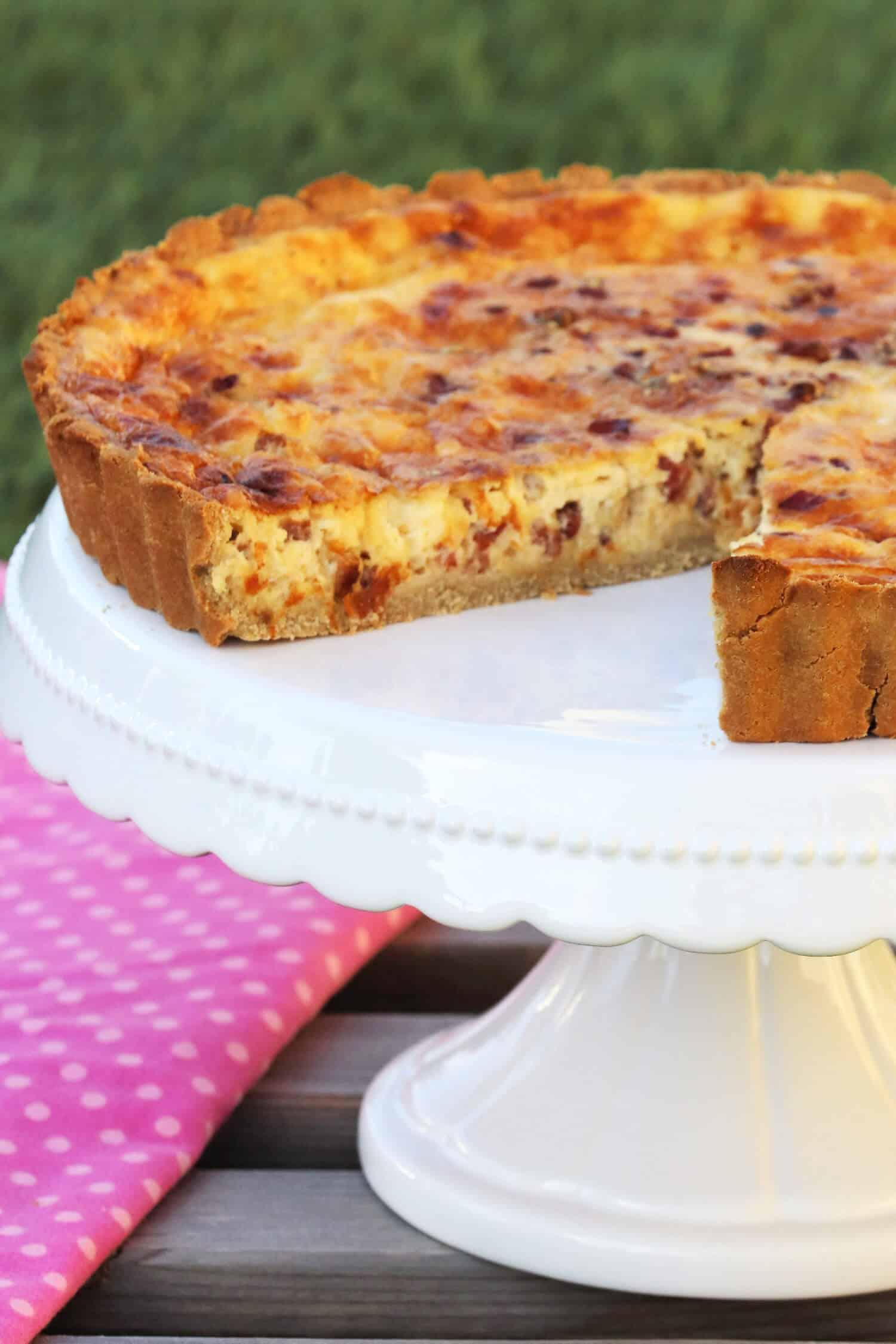 Low Carb Quiche Lorraine selber machen - Herzhafter Low Carb Kuchen ohne Mehl